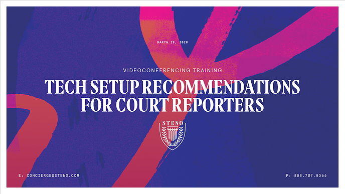 Tech Setup Recommendations for Court Reporters